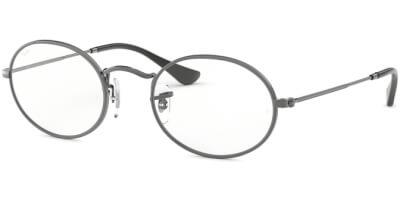Dioptrické brýle Ray-Ban® model 3547V, barva obruby šedá mat, stranice šedá mat, kód barevné varianty 2502.
