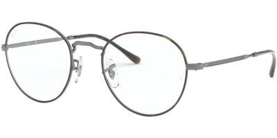 Dioptrické brýle Ray-Ban® model 3582V, barva obruby hnědá šedá mat, stranice šedá mat, kód barevné varianty 3034.