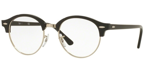 Dioptrické brýle Ray-Ban® model 4246V, barva obruby černá stříbrná lesk, stranice černá lesk, kód barevné varianty 2000.