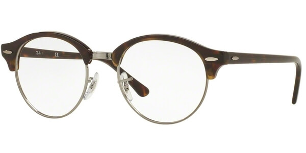 Dioptrické brýle Ray-Ban® model 4246V, barva obruby hnědá stříbrná lesk, stranice hnědá lesk, kód barevné varianty 2012.