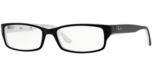 Dioptrické brýle Ray-Ban® model 5114, barva obruby černá lesk, stranice černá bílá lesk, kód barevné varianty 2097.