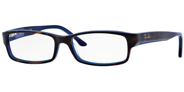 Dioptrické brýle Ray-Ban® model 5114, barva obruby hnědá modrá lesk, stranice hnědá modrá lesk, kód barevné varianty 5064.