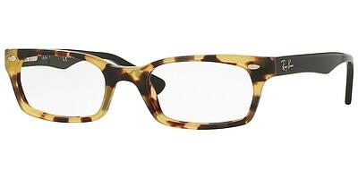 Dioptrické brýle Ray-Ban® model 5150, barva obruby žlutá lesk, stranice černá lesk, kód barevné varianty 5608.