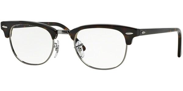 Dioptrické brýle Ray-Ban® model 5154, barva obruby hnědá stříbrná lesk, stranice hnědá lesk, kód barevné varianty 2012.