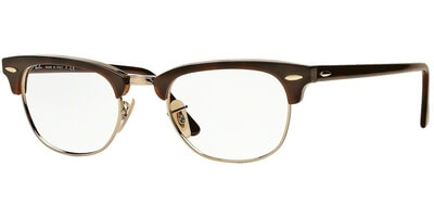 Dioptrické brýle Ray-Ban® model 5154, barva obruby hnědá zlatá lesk, stranice hnědá lesk, kód barevné varianty 2372.