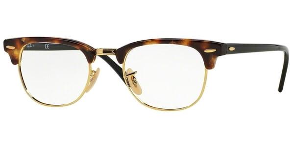 Dioptrické brýle Ray-Ban® model 5154, barva obruby hnědá zlatá lesk, stranice hnědá lesk, kód barevné varianty 5494.