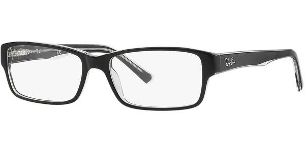 Dioptrické brýle Ray-Ban® model 5169, barva obruby černá čirá lesk, stranice černá čirá lesk, kód barevné varianty 2034.