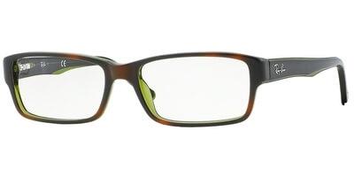 Dioptrické brýle Ray-Ban® model 5169, barva obruby hnědá zelená lesk, stranice hnědá zelená lesk, kód barevné varianty 2383.