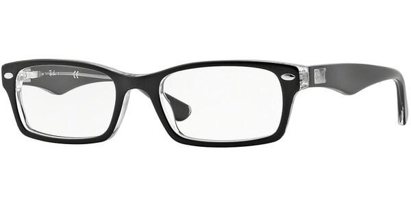 Dioptrické brýle Ray-Ban® model 5206, barva obruby černá čirá lesk, stranice černá čirá lesk, kód barevné varianty 2034.