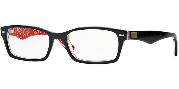 Dioptrické brýle Ray-Ban® model 5206, barva obruby černá červená lesk, stranice černá červená lesk, kód barevné varianty 2479.