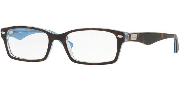Dioptrické brýle Ray-Ban® model 5206, barva obruby hnědá modrá lesk, stranice hnědá modrá lesk, kód barevné varianty 5023.