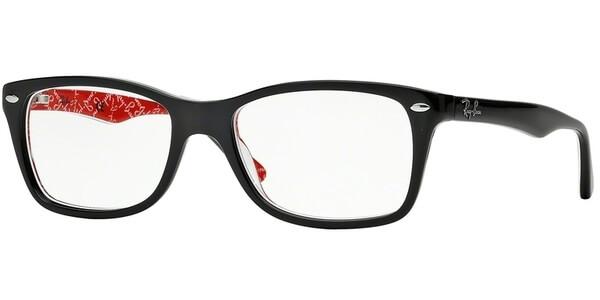 Dioptrické brýle Ray-Ban® model 5228, barva obruby černá lesk, stranice černá červená lesk, kód barevné varianty 2479.