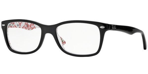 Dioptrické brýle Ray-Ban® model 5228, barva obruby černá lesk, stranice černá bílá lesk, kód barevné varianty 5014.