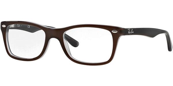 Dioptrické brýle Ray-Ban® model 5228, barva obruby hnědá lesk, stranice hnědá šedá lesk, kód barevné varianty 5076.