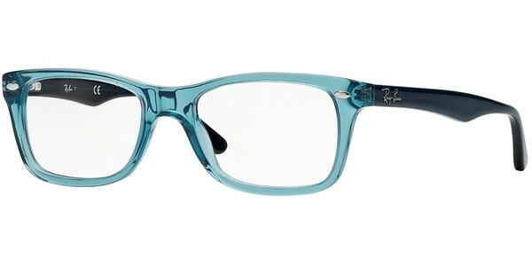 Dioptrické brýle Ray-Ban® model 5228, barva obruby čirá modrá lesk, stranice tmavě modrá lesk, kód barevné varianty 5235.