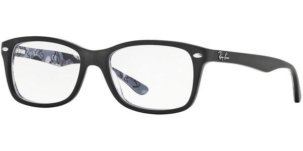 Dioptrické brýle Ray-Ban® model 5228, barva obruby černá mat, stranice černá šedá mat, kód barevné varianty 5405.
