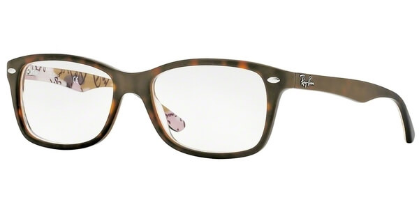 Dioptrické brýle Ray-Ban® model 5228, barva obruby hnědá mat, stranice hnědá mat, kód barevné varianty 5409.