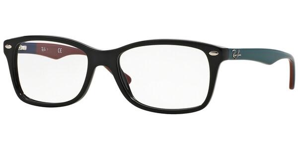 Dioptrické brýle Ray-Ban® model 5228, barva obruby černá lesk, stranice modrá červená lesk, kód barevné varianty 5544.