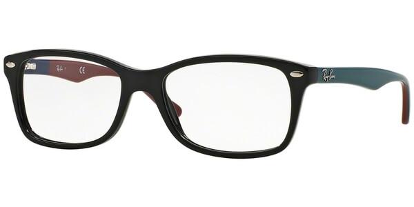 Dioptrické brýle Ray-Ban® model 5228, barva obruby černá lesk, stranice tyrkysová červená lesk, kód barevné varianty 5544.