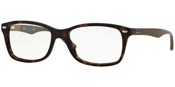 Dioptrické brýle Ray-Ban® model 5228, barva obruby hnědá lesk, stranice hnědá šedá lesk, kód barevné varianty 5545.