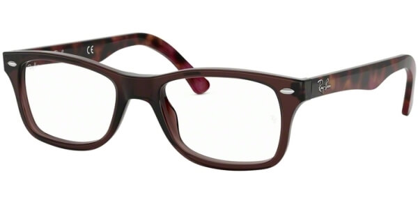 Dioptrické brýle Ray-Ban® model 5228, barva obruby hnědá čirá lesk, stranice hnědá růžová lesk, kód barevné varianty 5628.