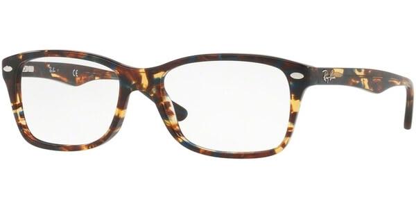 Dioptrické brýle Ray-Ban® model 5228, barva obruby hnědá modrá lesk, stranice hnědá modrá lesk, kód barevné varianty 5711.