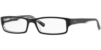 Dioptrické brýle Ray-Ban® model 5246, barva obruby černá čirá lesk, stranice černá čirá lesk, kód barevné varianty 2034.