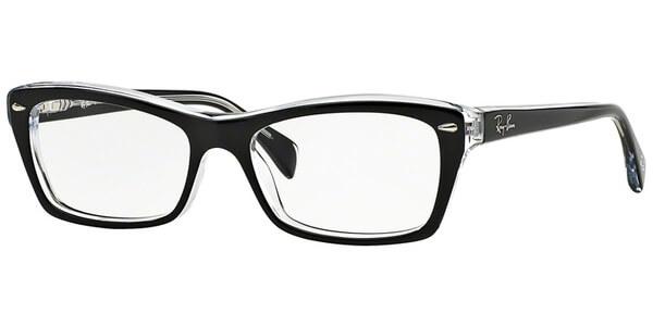 Dioptrické brýle Ray-Ban® model 5255, barva obruby černá čirá lesk, stranice černá čirá lesk, kód barevné varianty 2034.