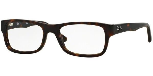 Dioptrické brýle Ray-Ban® model 5268, barva obruby hnědá mat, stranice hnědá mat, kód barevné varianty 5211.