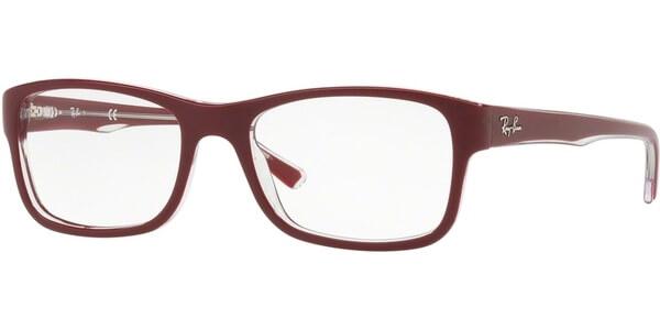 Dioptrické brýle Ray-Ban® model 5268, barva obruby vínová čirá mat, stranice vínová čirá mat, kód barevné varianty 5738.