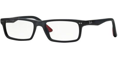Dioptrické brýle Ray-Ban® model 5277, barva obruby černá mat, stranice černá mat, kód barevné varianty 2077.