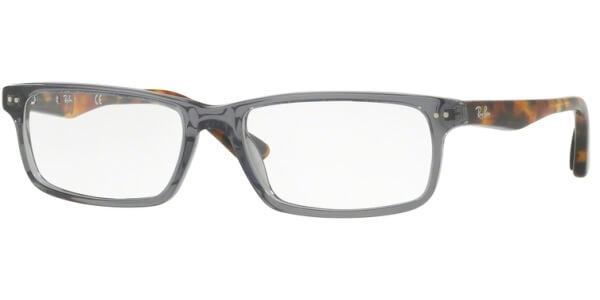 Dioptrické brýle Ray-Ban® model 5277, barva obruby šedá čirá lesk, stranice hnědá lesk, kód barevné varianty 5629.