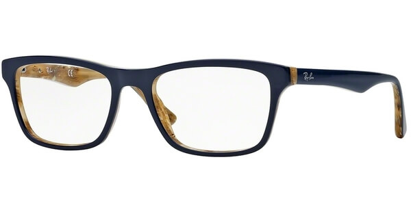Dioptrické brýle Ray-Ban® model 5279, barva obruby modrá lesk, stranice modrá béžová lesk, kód barevné varianty 5131.