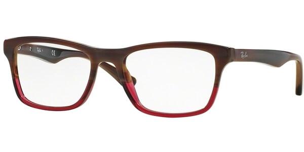 Dioptrické brýle Ray-Ban® model 5279, barva obruby hnědá červená lesk, stranice hnědá lesk, kód barevné varianty 5541.