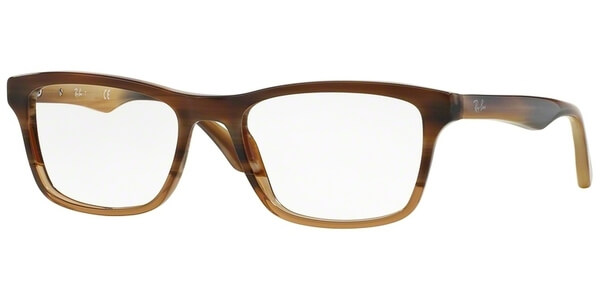 Dioptrické brýle Ray-Ban® model 5279, barva obruby hnědá lesk, stranice hnědá lesk, kód barevné varianty 5542.