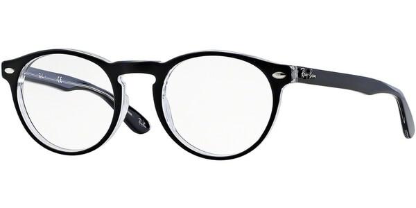 Dioptrické brýle Ray-Ban® model 5283, barva obruby černá čirá lesk, stranice černá čirá lesk, kód barevné varianty 2034.