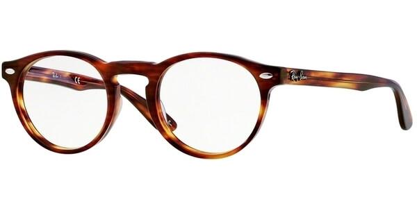 Dioptrické brýle Ray-Ban® model 5283, barva obruby hnědá lesk, stranice hnědá lesk, kód barevné varianty 2144.