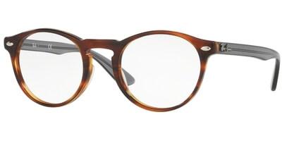Dioptrické brýle Ray-Ban® model 5283, barva obruby hnědá lesk, stranice šedá čirá lesk, kód barevné varianty 5607.