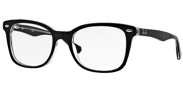 Dioptrické brýle Ray-Ban® model 5285, barva obruby černá čirá lesk, stranice černá čirá lesk, kód barevné varianty 2034.