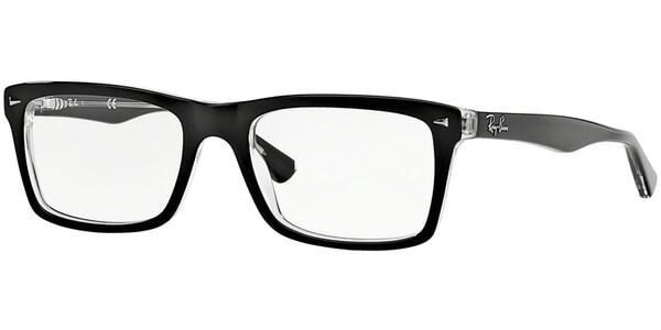 Dioptrické brýle Ray-Ban® model 5287, barva obruby černá čirá lesk, stranice černá čirá lesk, kód barevné varianty 2034.