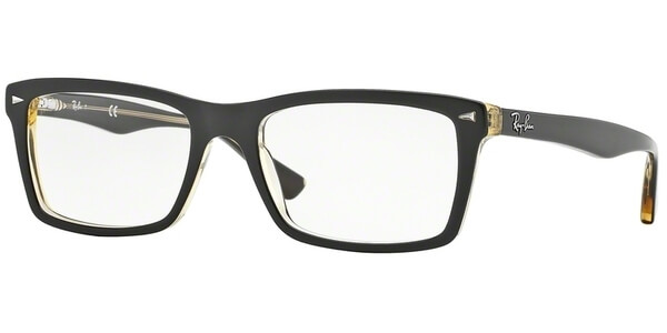 Dioptrické brýle Ray-Ban® model 5287, barva obruby hnědá čirá lesk, stranice hnědá čirá lesk, kód barevné varianty 5373.