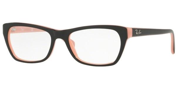 Dioptrické brýle Ray-Ban® model 5298, barva obruby černá lesk, stranice černá růžová lesk, kód barevné varianty 5024.