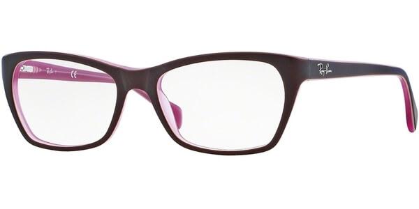 Dioptrické brýle Ray-Ban® model 5298, barva obruby hnědá mat, stranice hnědá růžová mat, kód barevné varianty 5386.