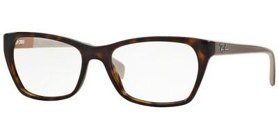 Dioptrické brýle Ray-Ban® model 5298, barva obruby hnědá lesk, stranice hnědá béžová lesk, kód barevné varianty 5549.