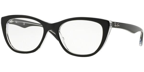 Dioptrické brýle Ray-Ban® model 5322, barva obruby černá čirá lesk, stranice černá čirá lesk, kód barevné varianty 2034.