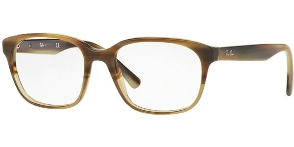 Dioptrické brýle Ray-Ban® model 5340, barva obruby hnědá béžová lesk, stranice hnědá béžová lesk, kód barevné varianty 5542.