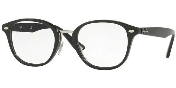 Dioptrické brýle Ray-Ban® model 5355, barva obruby černá stříbrná lesk, stranice černá lesk, kód barevné varianty 2000.