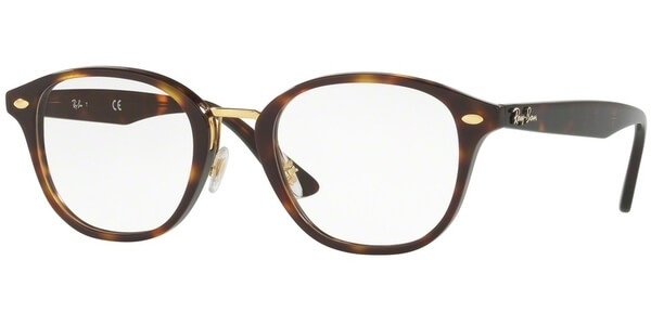 Dioptrické brýle Ray-Ban® model 5355, barva obruby hnědá zlatá lesk, stranice hnědá lesk, kód barevné varianty 5674.