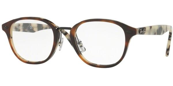 Dioptrické brýle Ray-Ban® model 5355, barva obruby hnědá lesk, stranice béžová lesk, kód barevné varianty 5676.