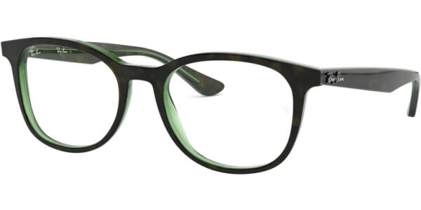 Dioptrické brýle Ray-Ban® model 5356, barva obruby hnědá zelená lesk, stranice hnědá zelená lesk, kód barevné varianty 2383.